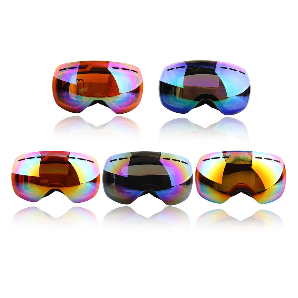 Double Layer Large Spherical Snow Goggle Optical Spectacal Snowboard Goggles