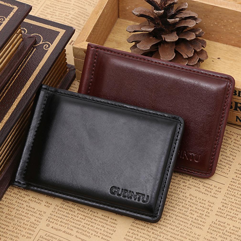 New Soft GUBINTU Man Purse Men PU Leather Horizontal Opening Style Wallet