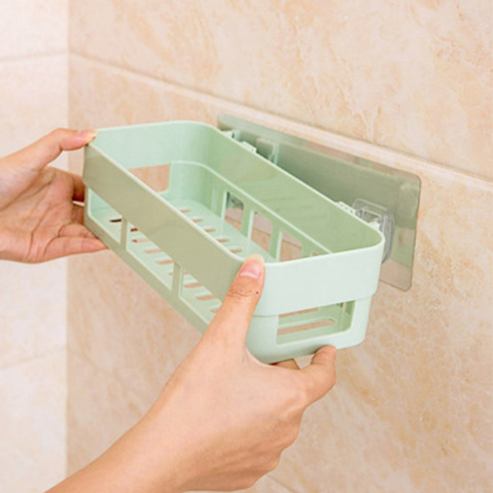 Seamless Paste Shelf Nordic Bathroom Hanging Storages Holders Storage Rack