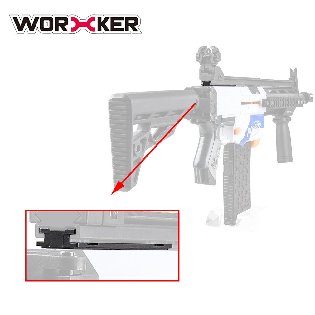 Worker ABS Plastic Grooved Rail Pad Adapter Kit for Nerf Toy Gun Accessories