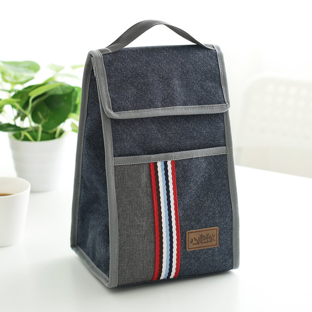 80076 Portable Handbag Oxford Cloth Insulated Lunch Box Thermal Insulation Bag Heat Preservation Lunch Food Box Cooler Bags