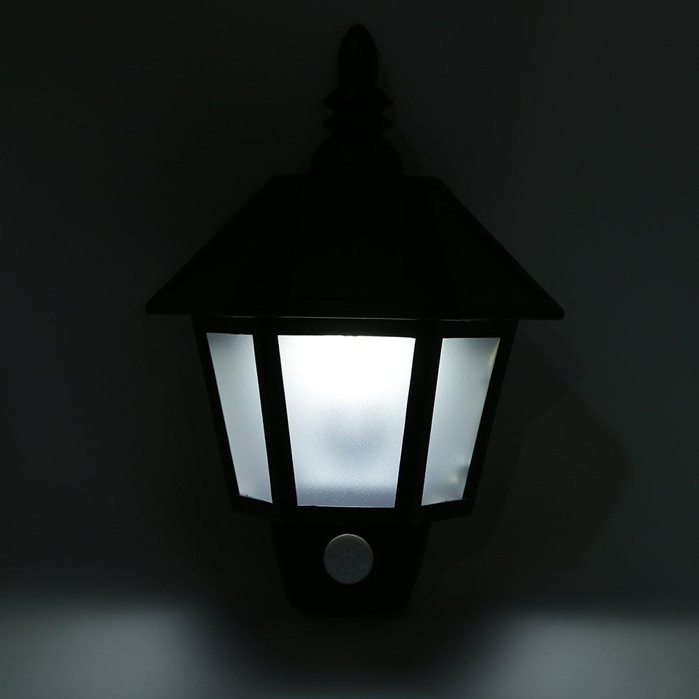Solar Power PIR Motion Sensor Bright Wall Light Outdoor Porch Garden Lamp