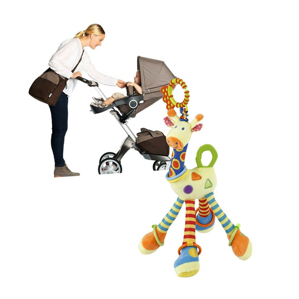 Plush Lovely Giraffe Toy Developmental Interactive Baby Soft Handle Toys