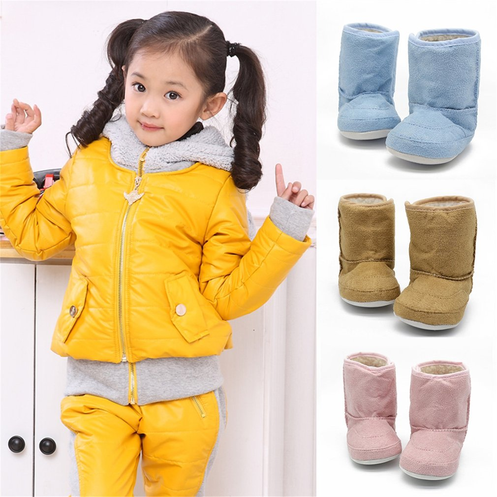 Infant Baby Girls Snow Boots Winter Warm Crib Shoes Toddler Booties