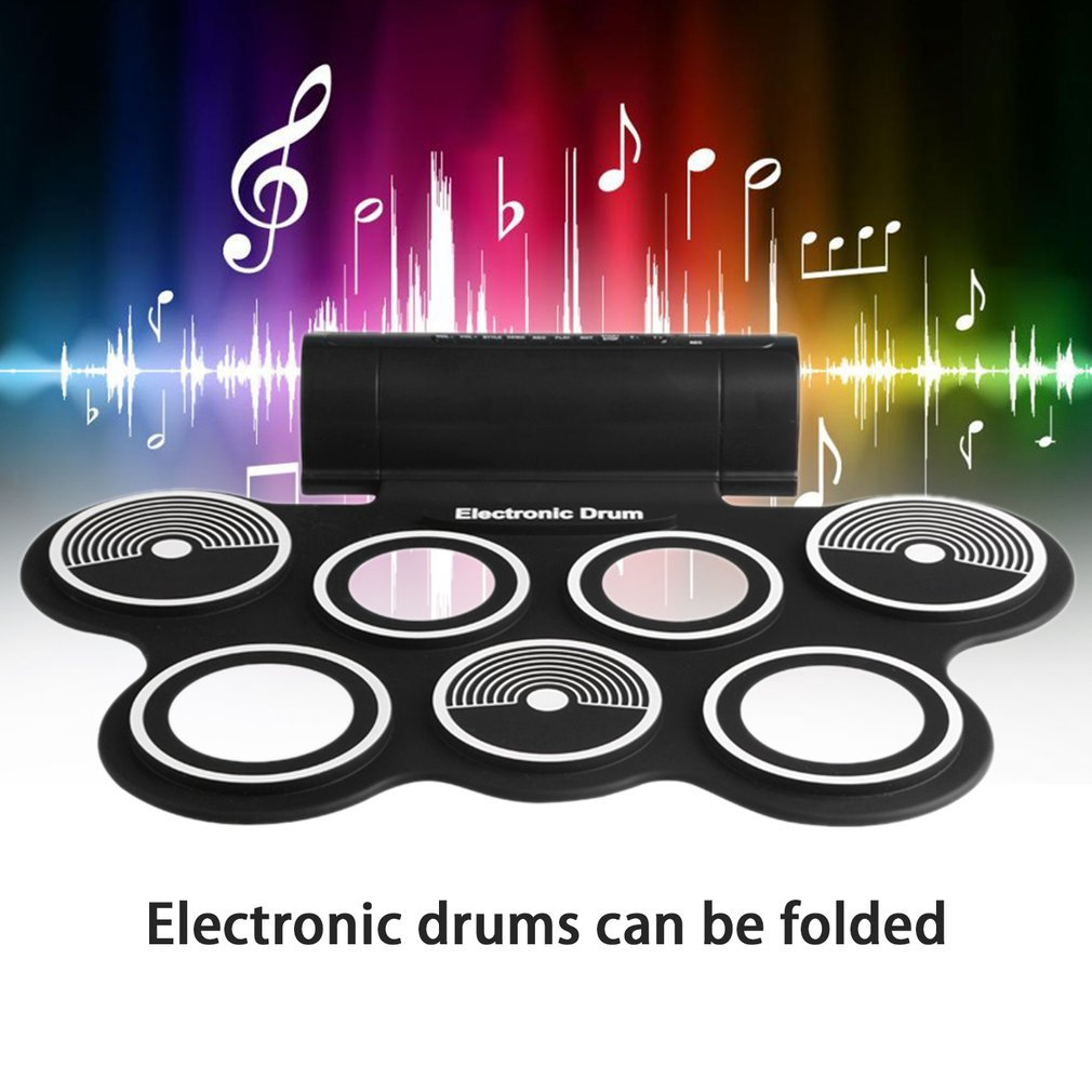 W759 Portable Roll Up Electronic Drum Digital USB Desktop Musical Instrument