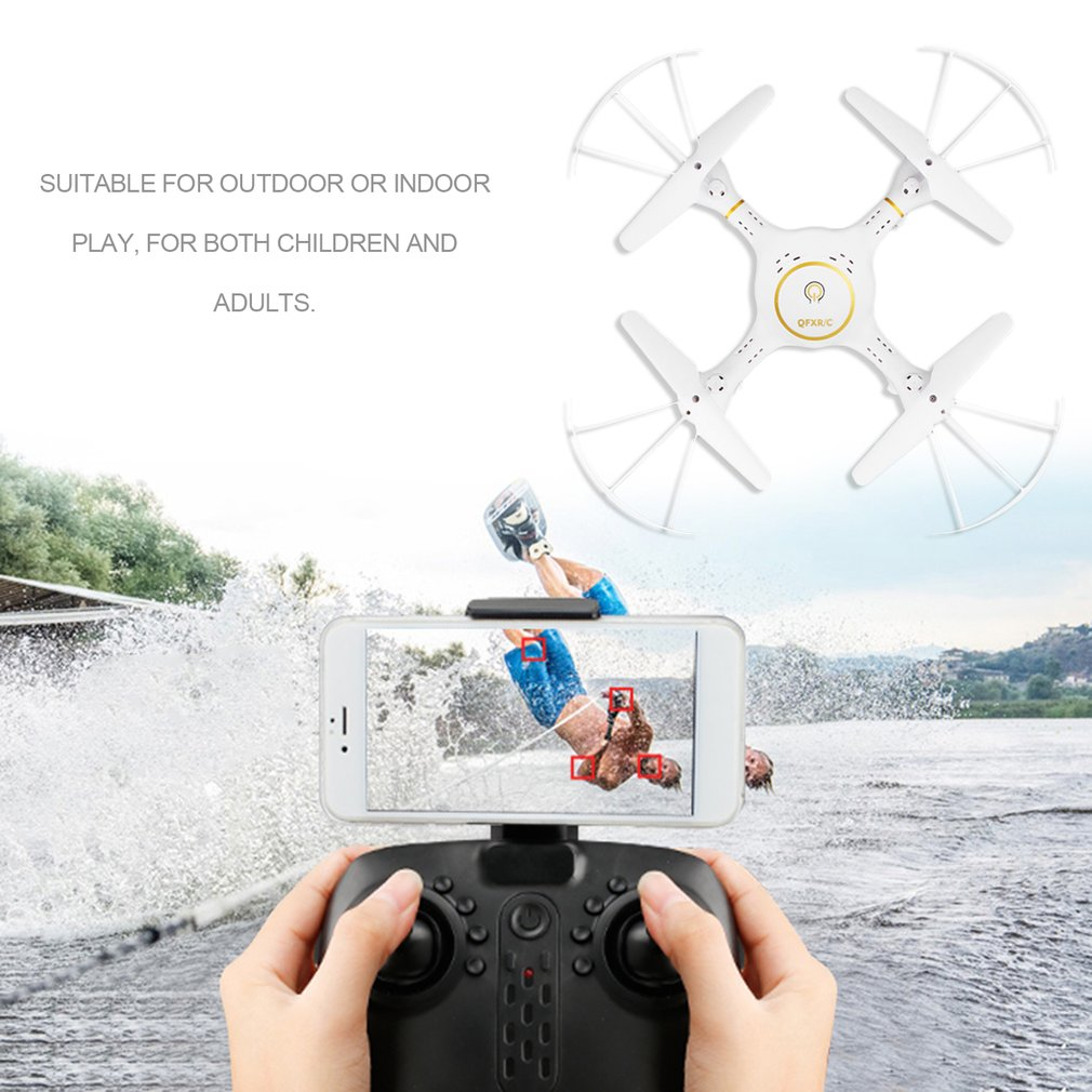 2.4G RC Drone 4-Axis Quadcopter with LED 720P Wifi Camera Real Time Transmission Altitude Hold Headless Mode Helicopter