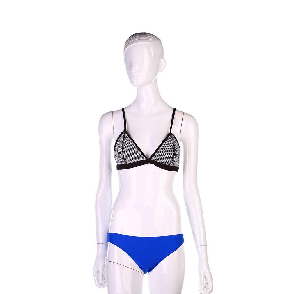 Women's Zipper Push-up Padded Bra Bikini Swimsuit Set Bathing Swimwear Suit