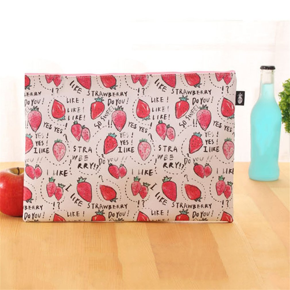 Sweet Fruit Pudding A4 Waterproof PU File Folder Document Stationery Bag
