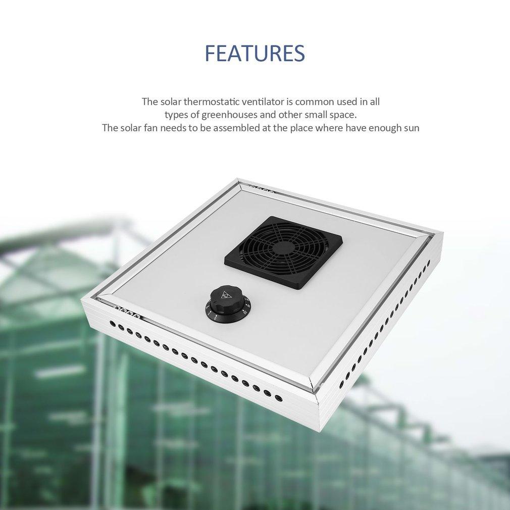 HX-F15 Greenhouse Solar Thermostatic Ventilator Fan for Automatic Ventilation