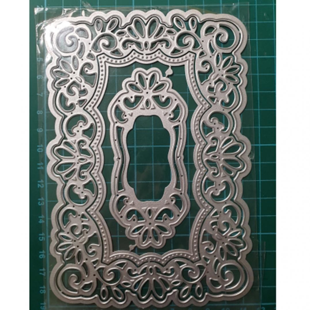 Lace Background Frame Metal Cutting Dies DIY Scrapbook Paper Cards Album Stencil