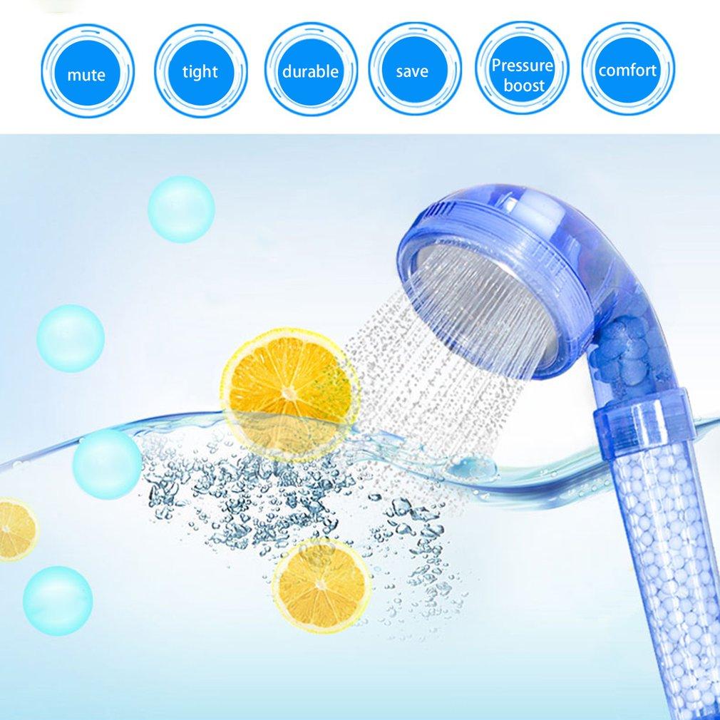 Three Gears Bathing Water Saving Negative Ion Energy Sphere Shower Head