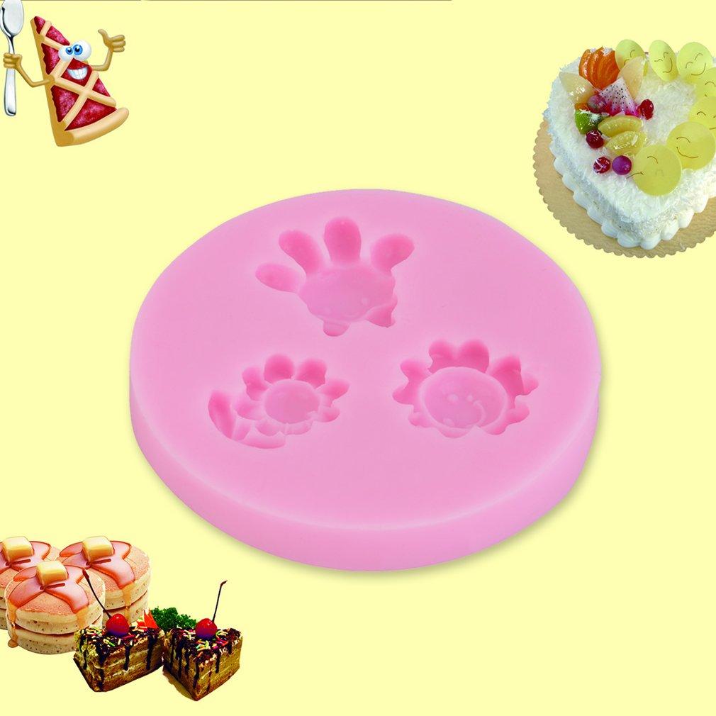 Mini Flower Sun Mold Soft Silicone Fondant Cake Emboss Mould Baking Tool
