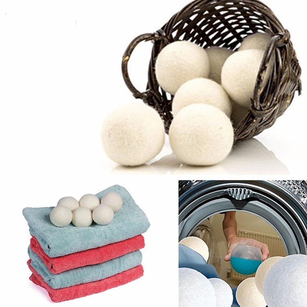 7CM Electrostatic Eliminating Laundry Clean Balls Reusable Natural Laundry Fabric Softener Balls Premium Wool Dryer Balls