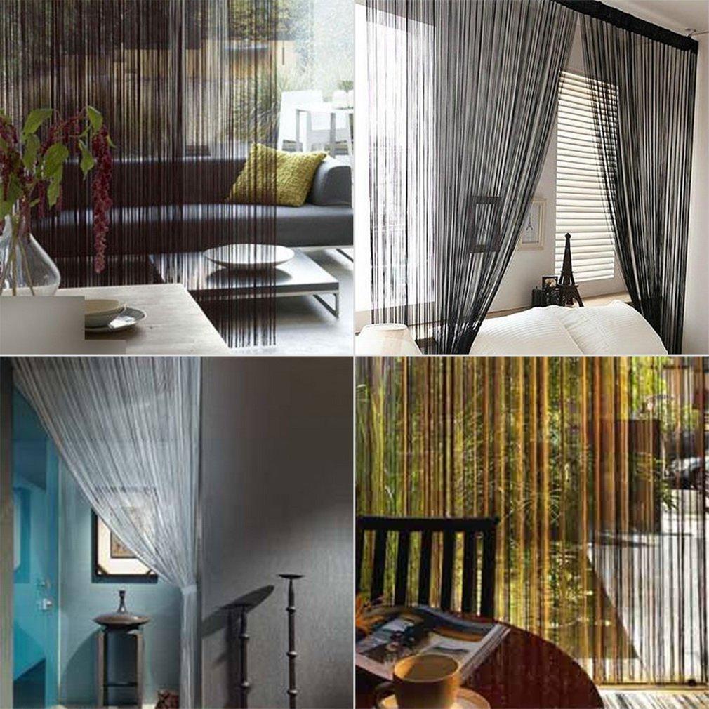 String Tassel Curtain Room Divider Door Hanging Wedding Drapery 300cm*300cm
