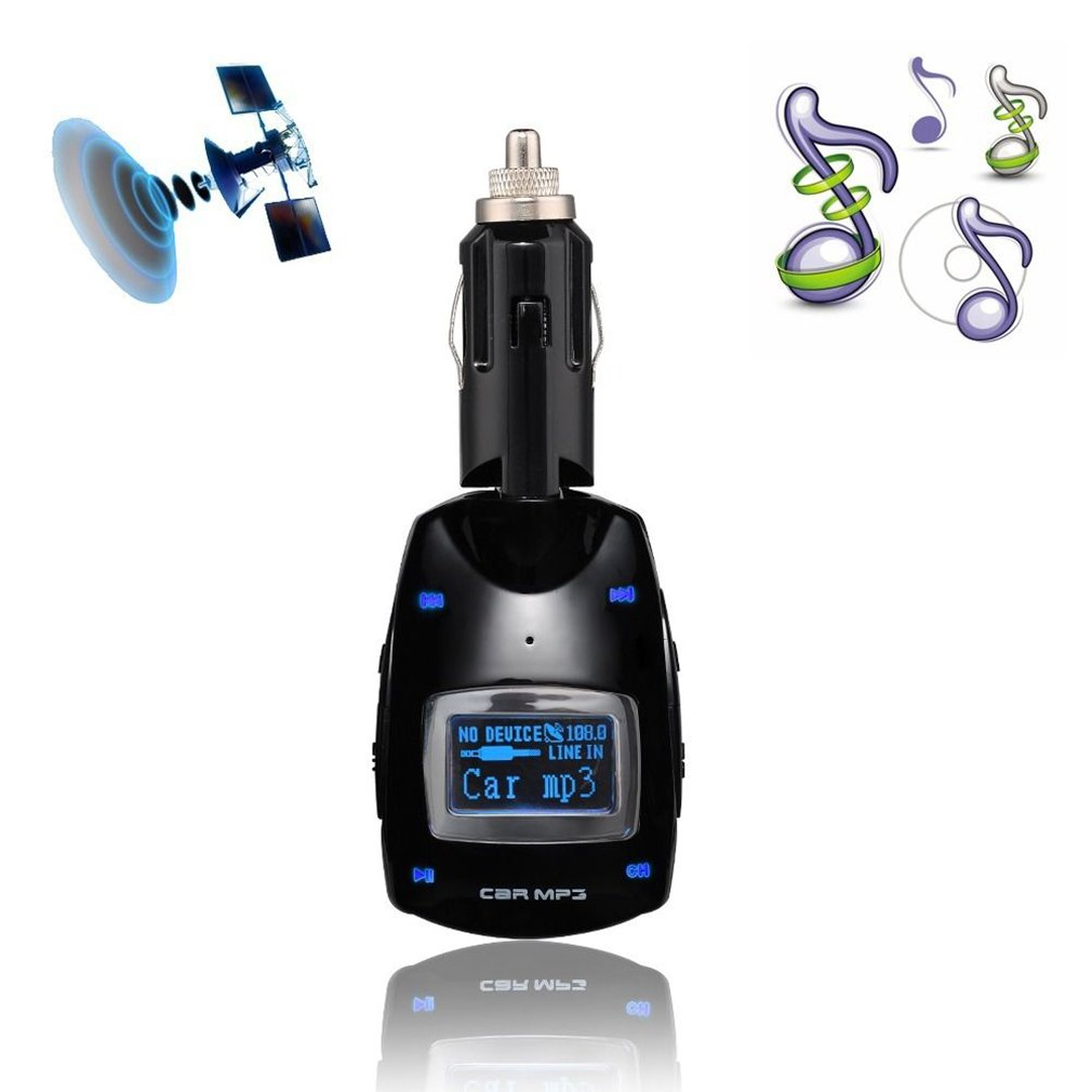 Car MP3 Player Wireless FM Transmitter Modulator WMA with USB Card Reader