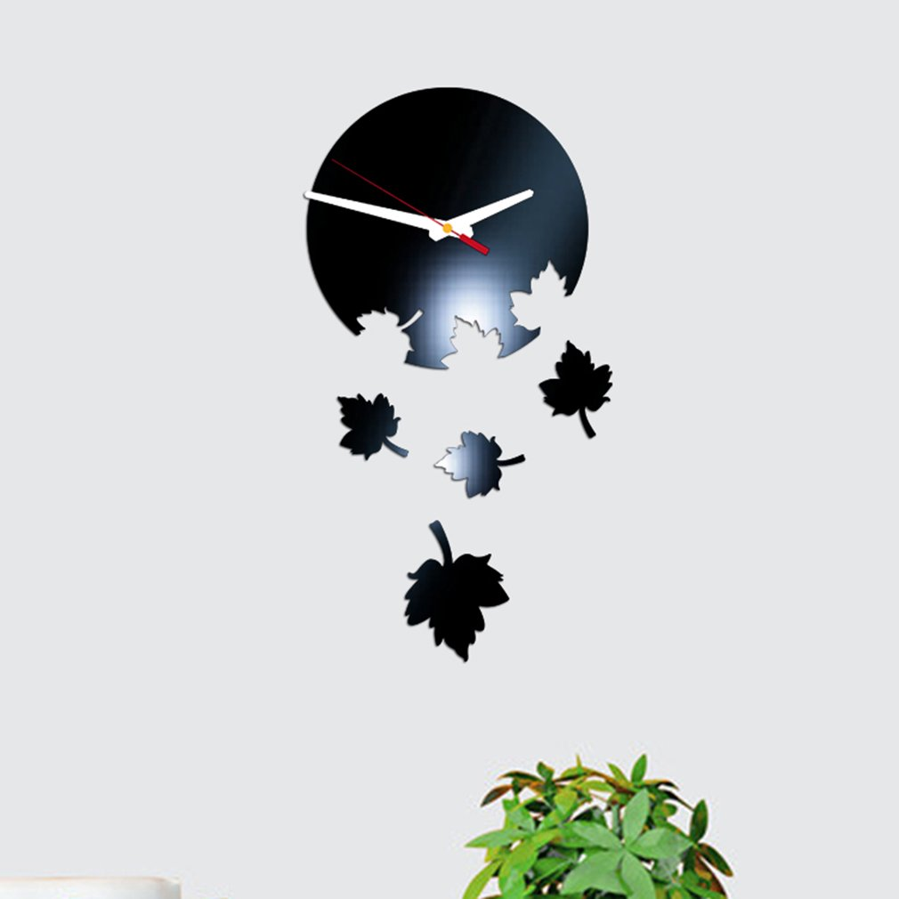 3D Stereo Workable Clocks Removable Wall Decal Sticker Art Mural Home Decor