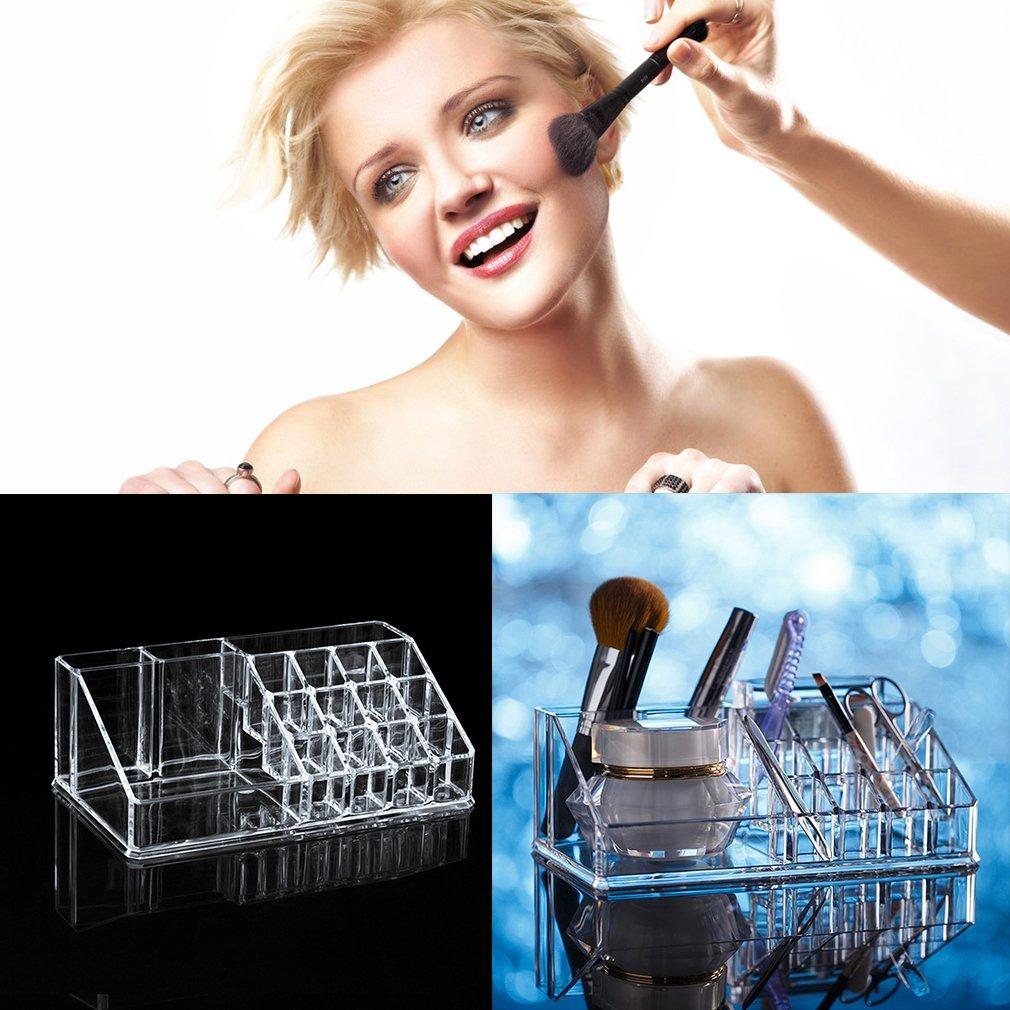 Transparent Makeup Box Organiser Cosmetic Display Storage Case Holder