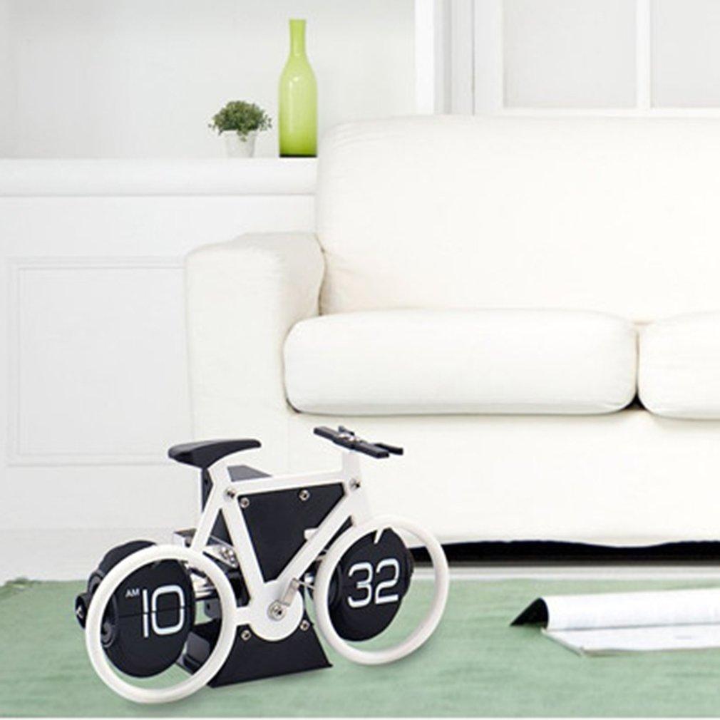 Novelty Bicycle Bike Flip Clock Time Adjustment-Set Clock For Home Desk Decor