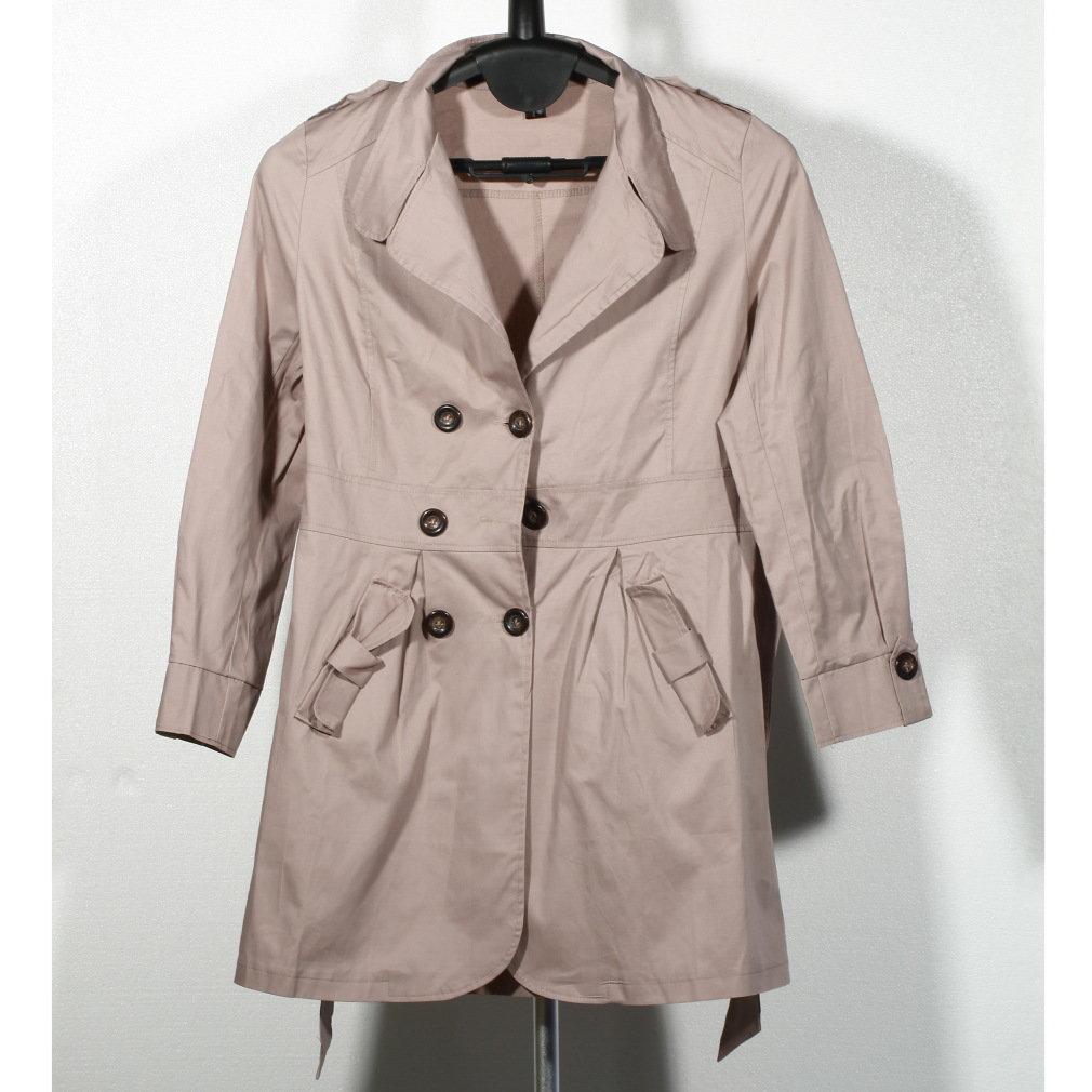 Korean style Fashion New Women Long Sleeve Slim Double Breasted Coat