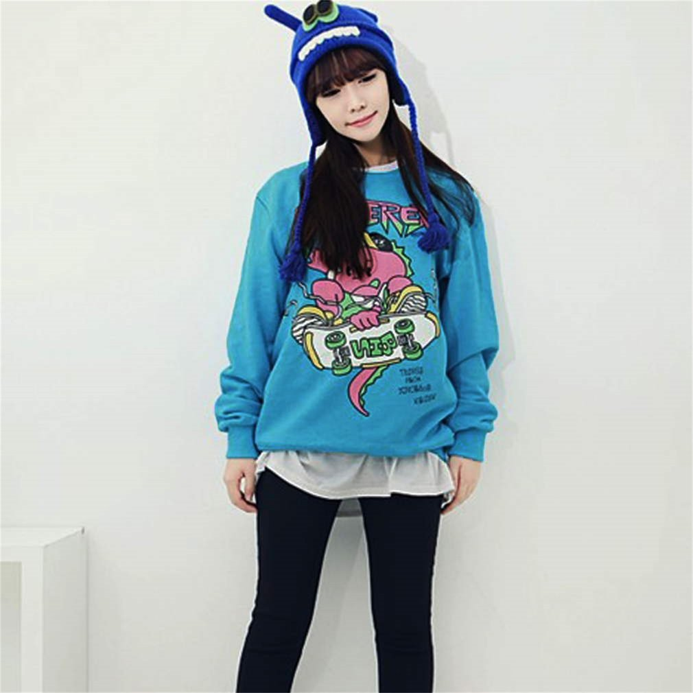Fashionable Design hoodie sweater K-pop one of a kind same type Blue Coat