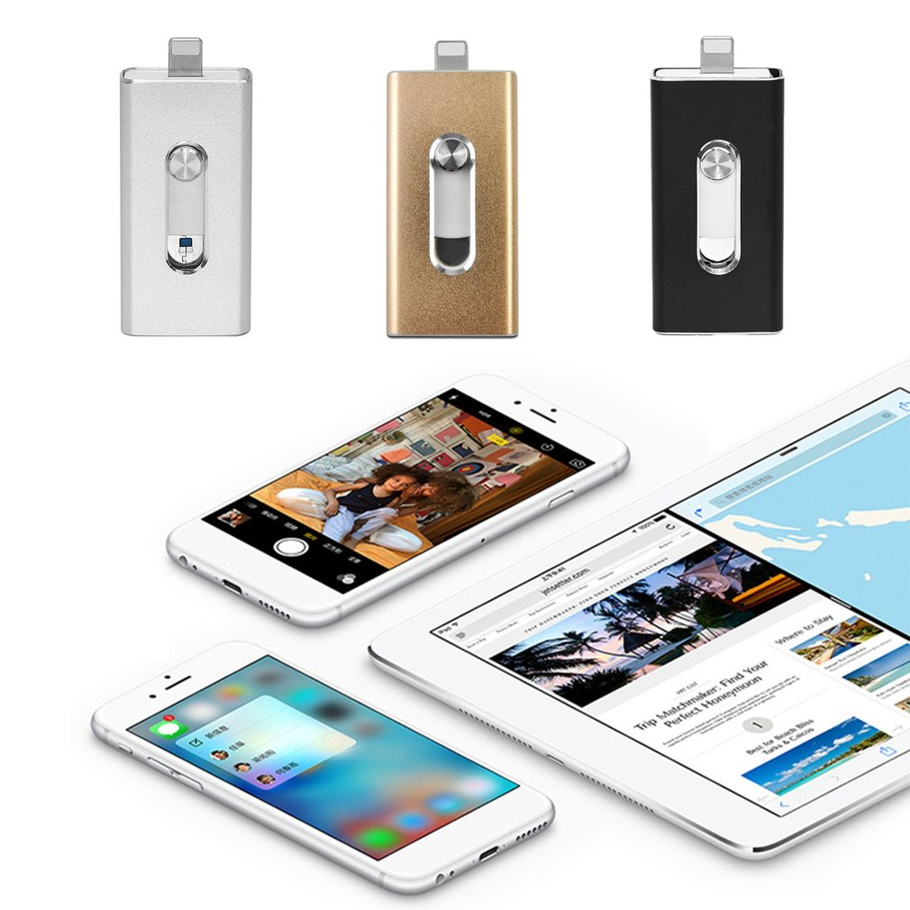 3-in-1 Flash Drive USB Memory Stick HD Micro-USB U-Disk for iPhone PC Android