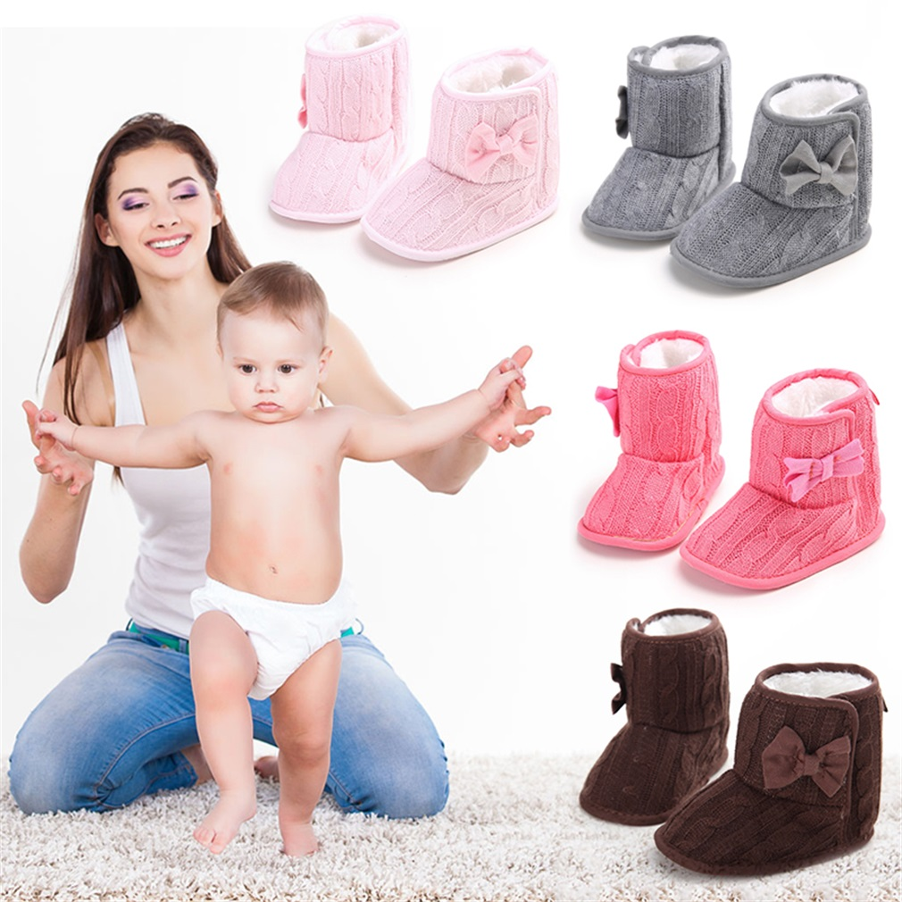 Cute Autumn Winter Warm Baby Boy Girls Shoes Soft Sole Toddler Infant Boots