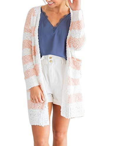 Women's Long Sleeve Soft Knit Sweater Cardigan Outerwear with Pockets