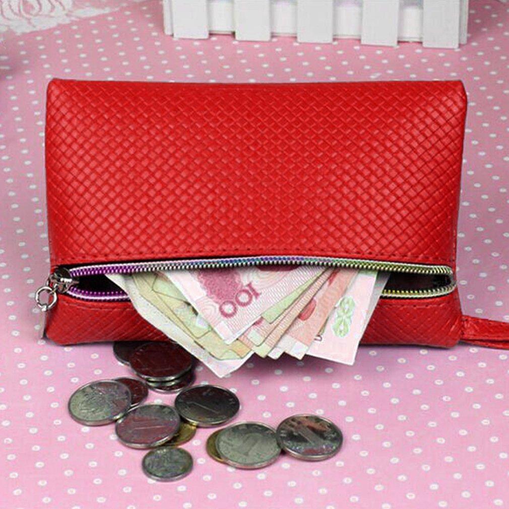 Candy Color Zip Coin Purse Long Money Wallet Handbag Key Pocket Party New