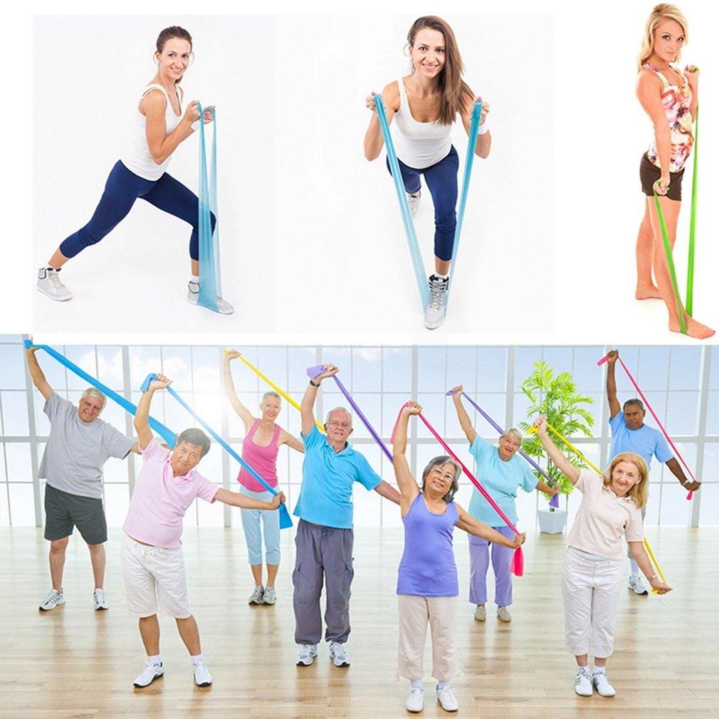 1.2m Stretch Resistance Bands Exercise Pilates Yoga GYM Workout Aerobics