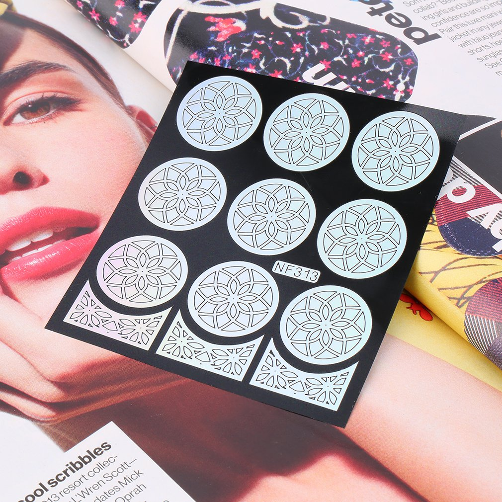 Nail Stencil Hollow Nail Stickers Printing Templates Manicure Decoration