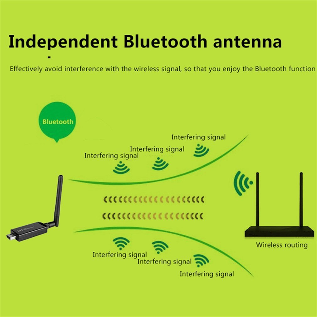 ZAPO W67L-2DB 600M Bluetooth 4.0 Dual Band 2.4G-5.8G USB2.0 Wi-Fi Network Card
