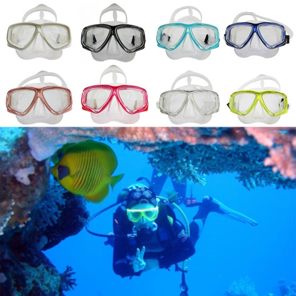 Diving Swimming Mask Anti Fog Glasses Tempered Glass Lens Snorkeling Unisex