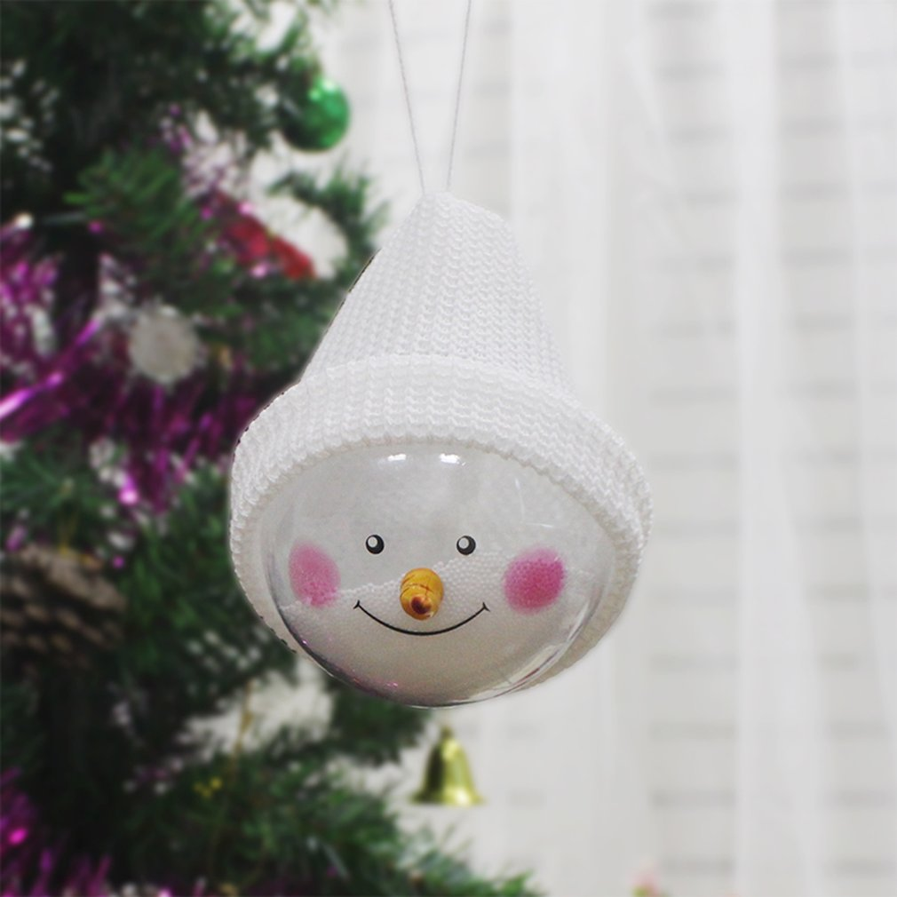 Cartoon Snowman Christmas Ball Pretty Toys Christmas Decoration Gift For Kids