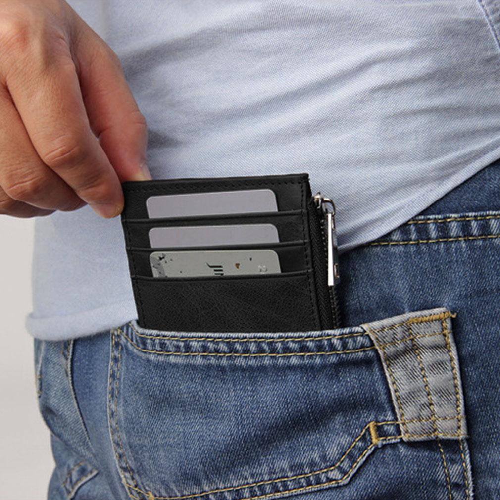 Leather RFID Wallet Slim Card Wallet Credit Card Holder Portable Card Wallet