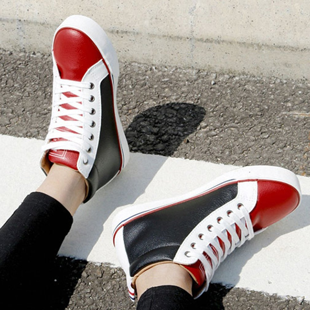 RENBEN 21030 Women Sports Shoes Female Flat Heel High Upper Shoes Casual Shoes