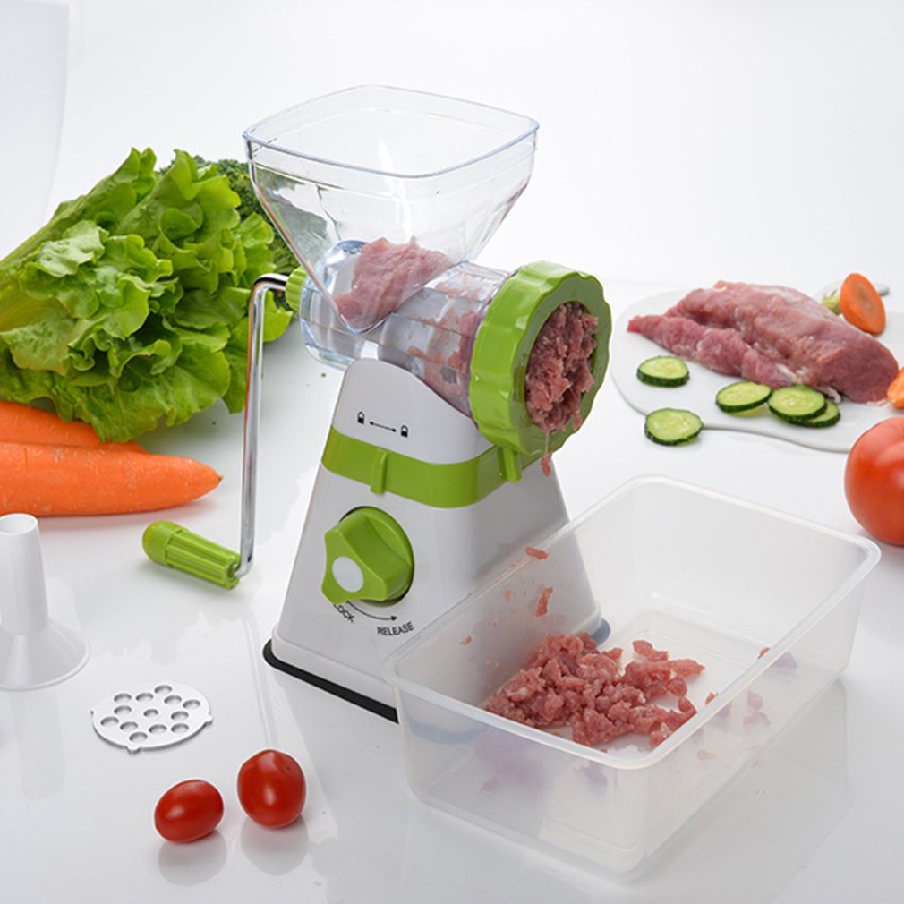 MaMultifunction Manual Meat Grinder Stainless Steel Blade Home Cooking Machine