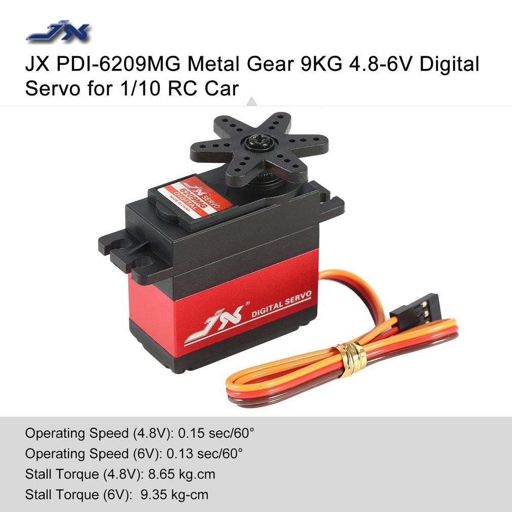 JX PDI-6209MG Metal Gear 9KG 4.8-6V Core Motor Digital Servo for 1/10 RC Car