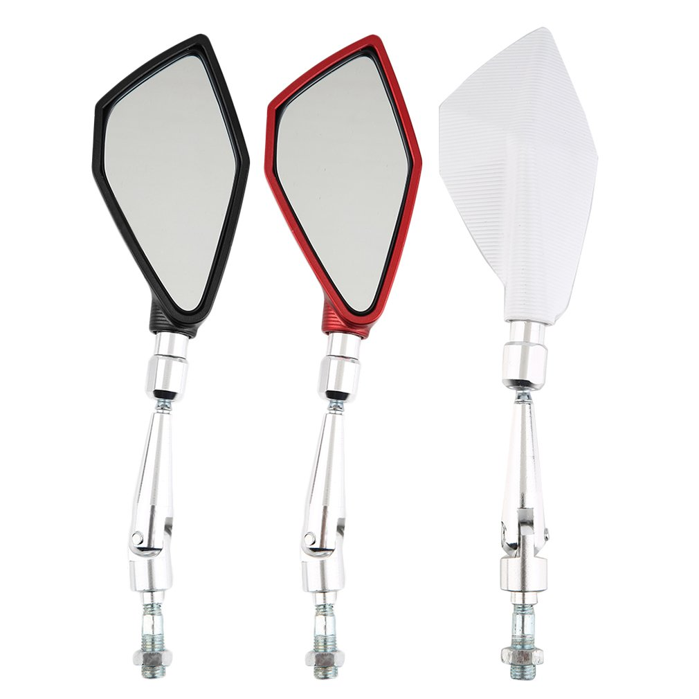 Six Colors Universal Motorcycle Aluminum Bar End Side Rearview Mirrors