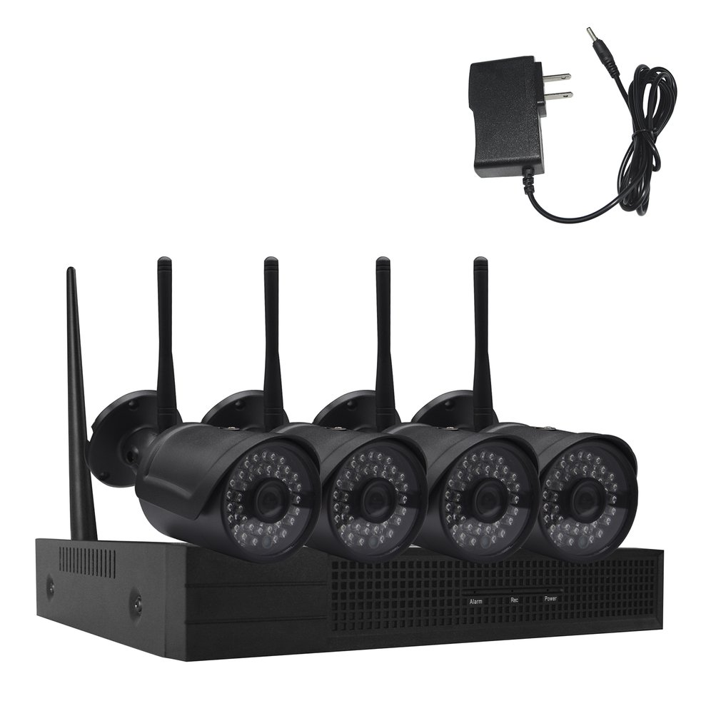 4CH Wireless WiFi Home Security Camera System H.265 Surveillance Camera Kit