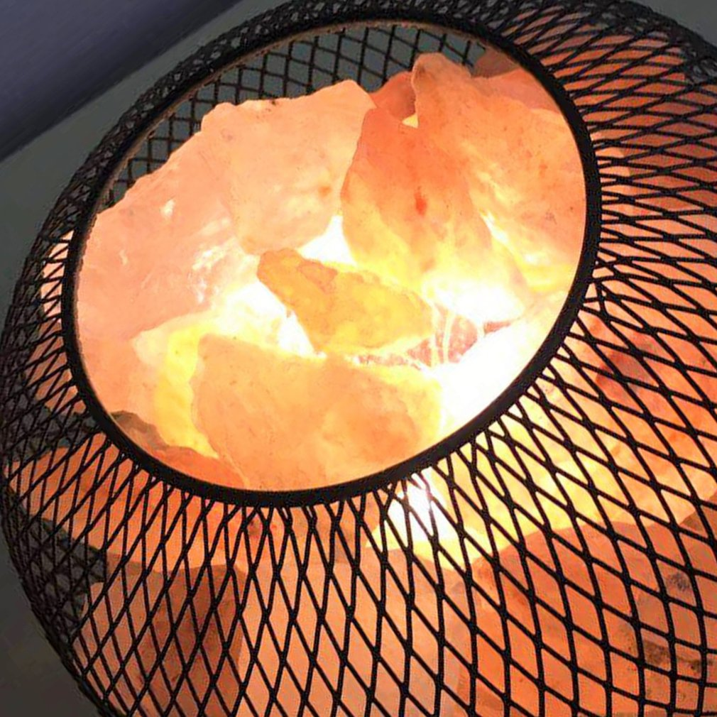 Himalayan Crystal Rock Salt LED Lamp Air Purifier with Built-in Battery Case