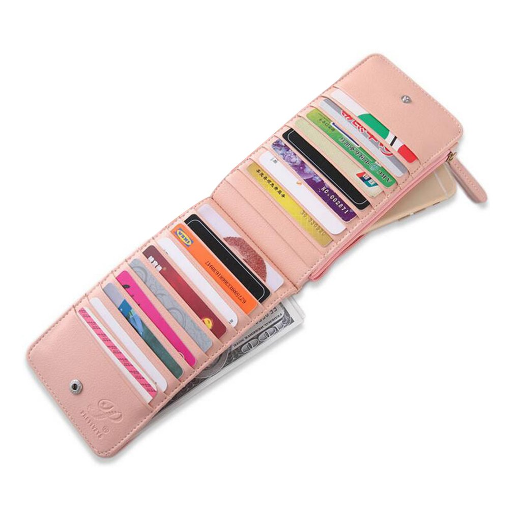 PU Leather Ultra-thin Multi-position Card Bag Women Long Section Coin Purse