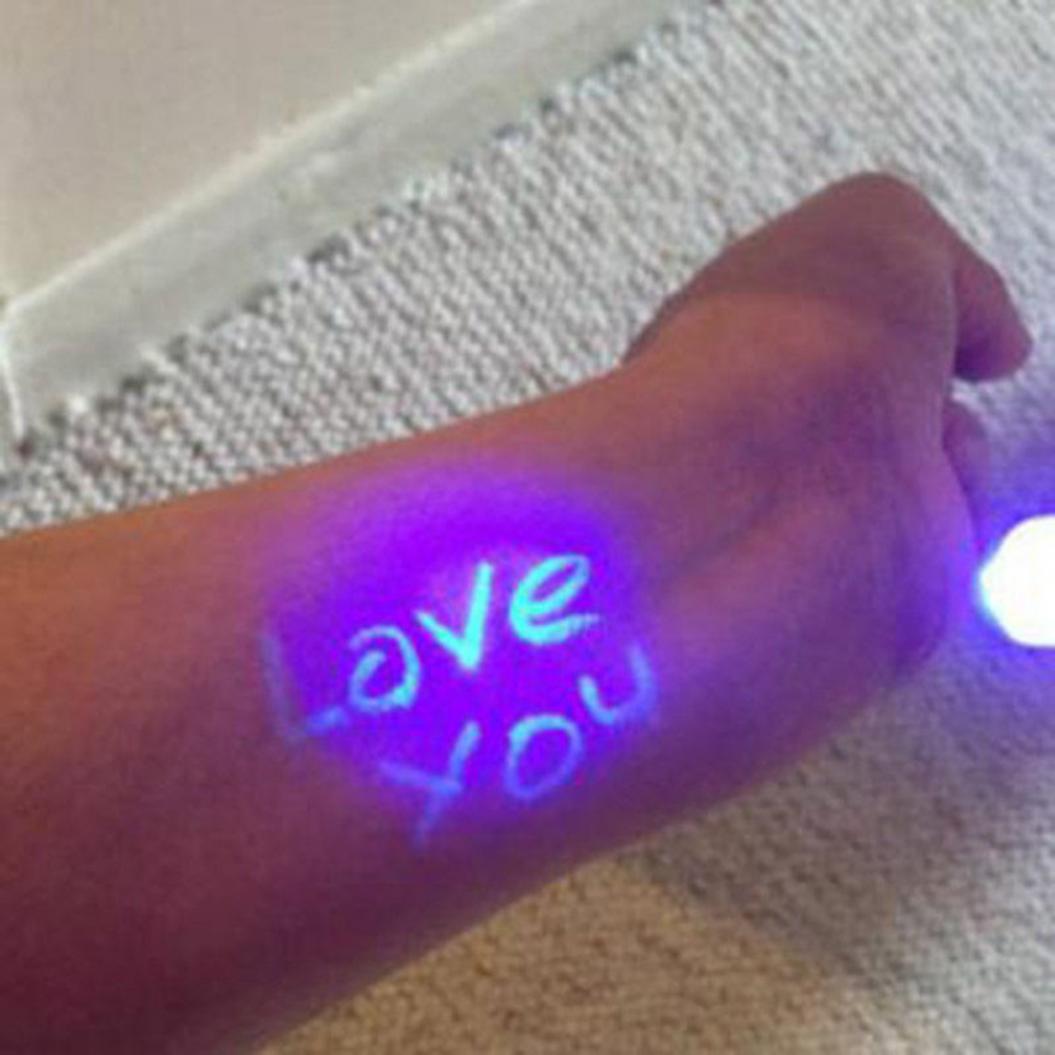 3Pcs UV Light Secret Message Invisible Ink Pen Counterfeit Money Bill Detector