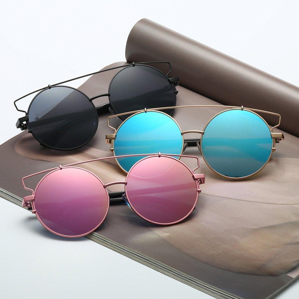 Fashion Cat Eye Sun Glasses Oversized Big Round Sunglasses Brand Designer Metal Frame UV400 Eyewear Glasses for Female