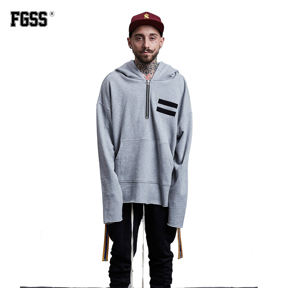 FORGIVENESS Men Autumn Winter Loose Hooded Sweater Round-neck Casual Clothes