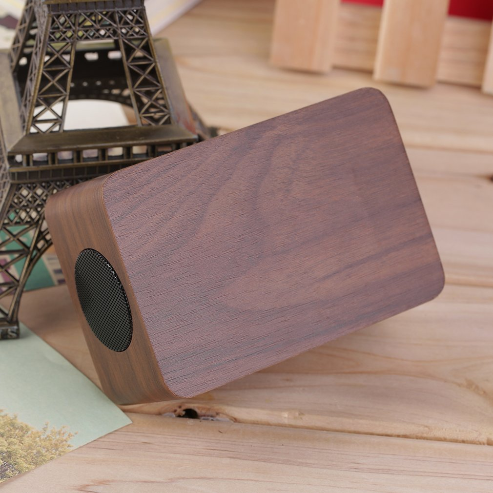 MINI Rectangle Wooden Speaker Bluetooth Digital FM Wireless Portable Speaker