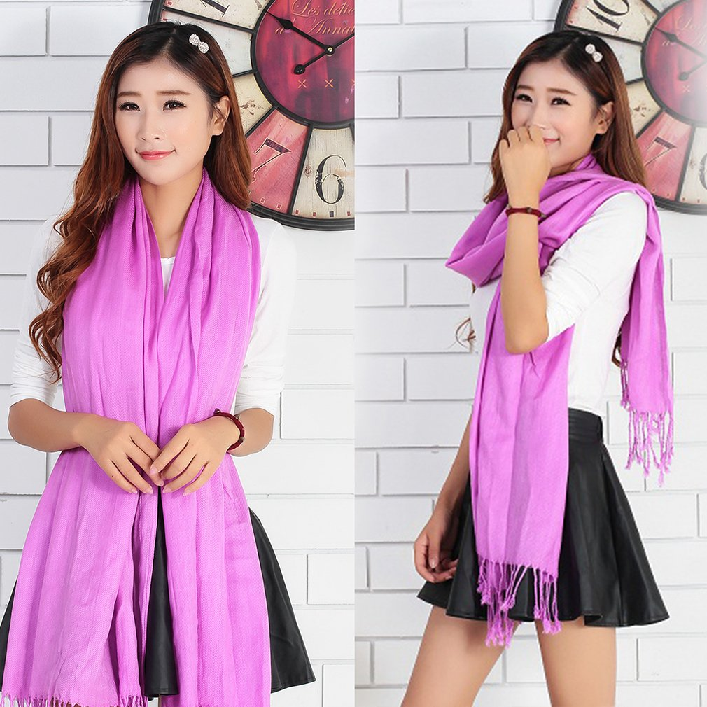 Women Long Candy Colors Soft Cotton Scarf Wrap Shawl Scarves Fashion Stole