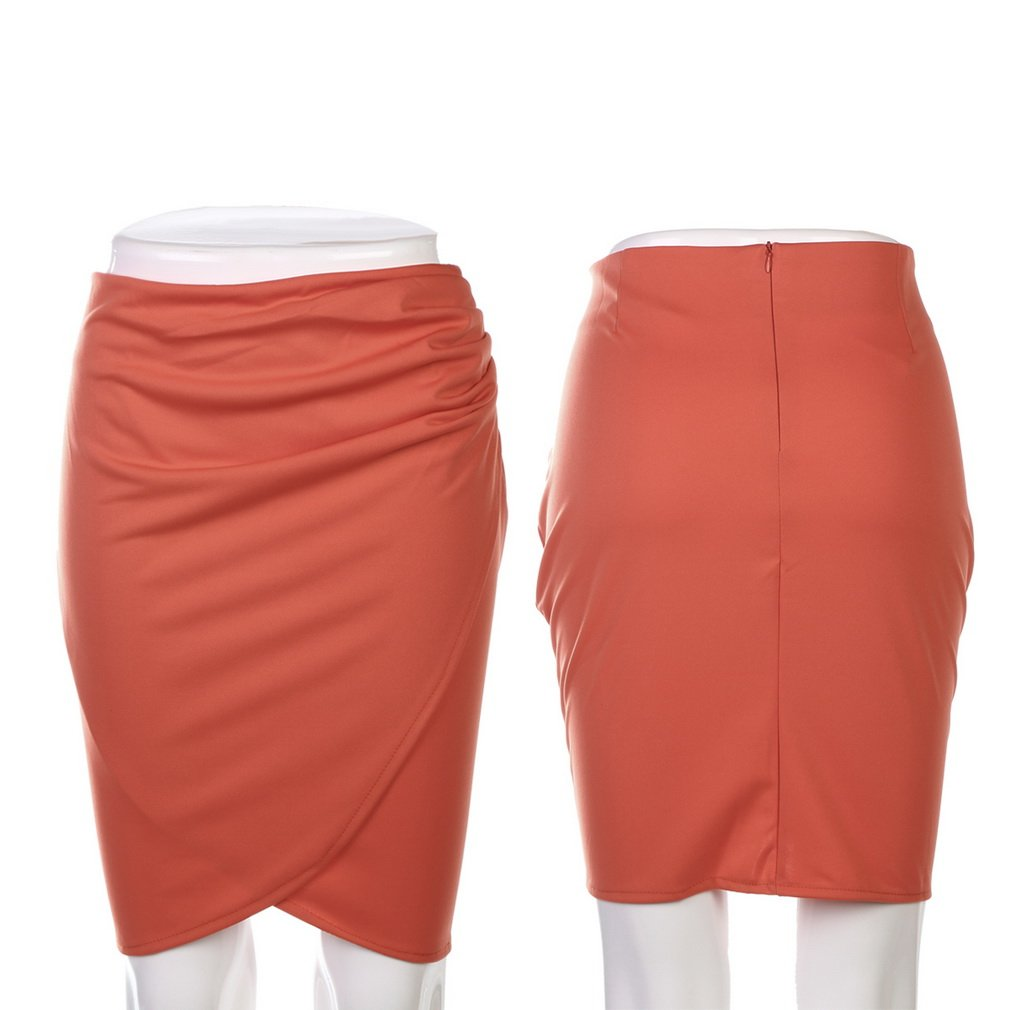 Womens Knee Length Step Skirt Business Summer OL Casual Short Suit Pencil Skirt