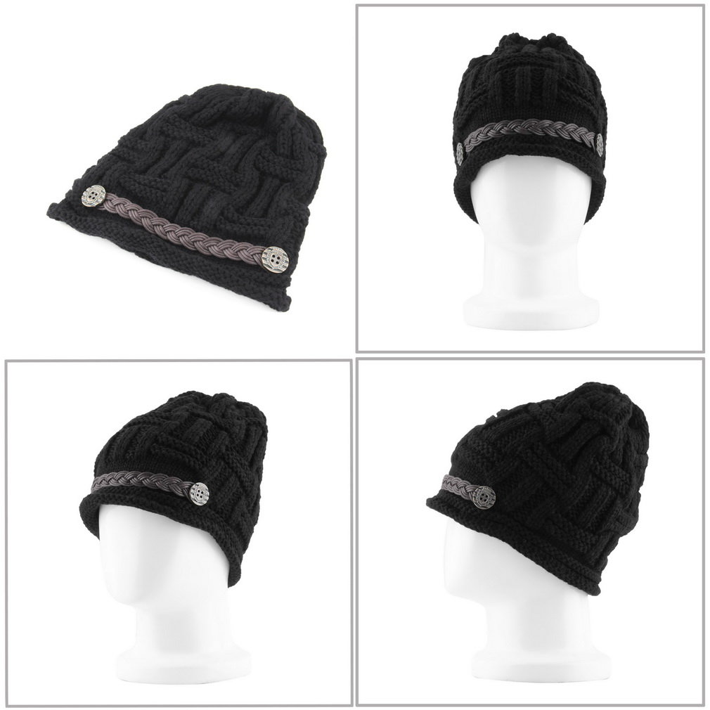 Fashion Women's Knitting Warm Casual Solid Hat Cap Winter Hats for Girls
