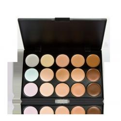 New 15 Natural Color Base Concealer Beauty Face Makeup Kit Foundation Repair Cream Palette Set