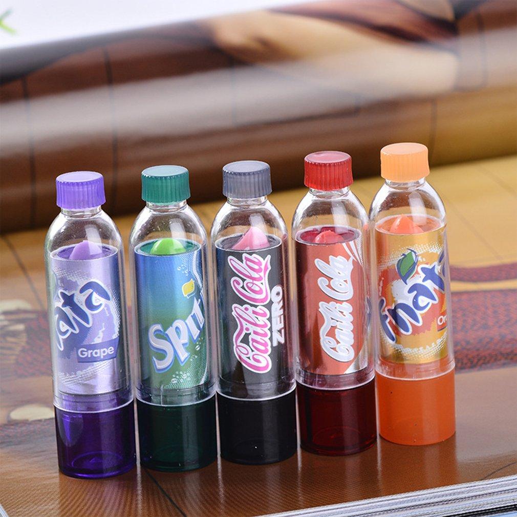Funny Portable Size Beverage Bottle Lip Makeup Lipstick Natural Long Lasting Change Color Lipstick Tools